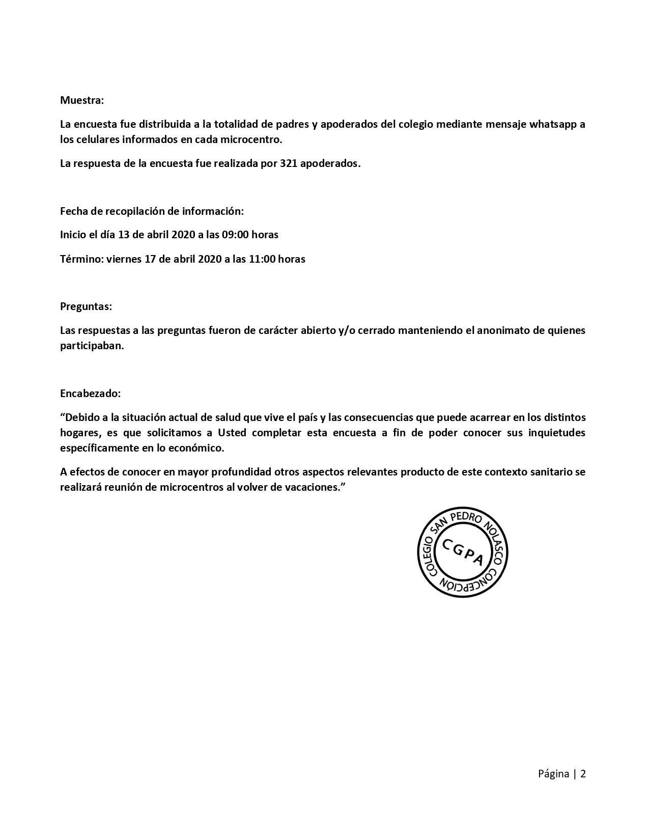 Resumen Encuesta Covid 2